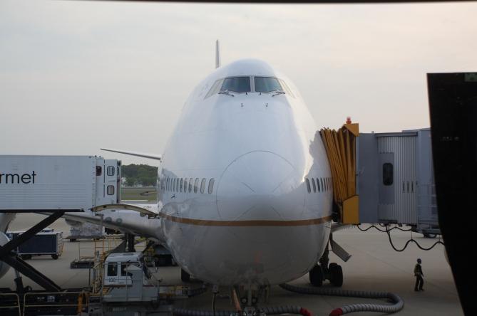 UA 747 from Tokyo to Bangkok