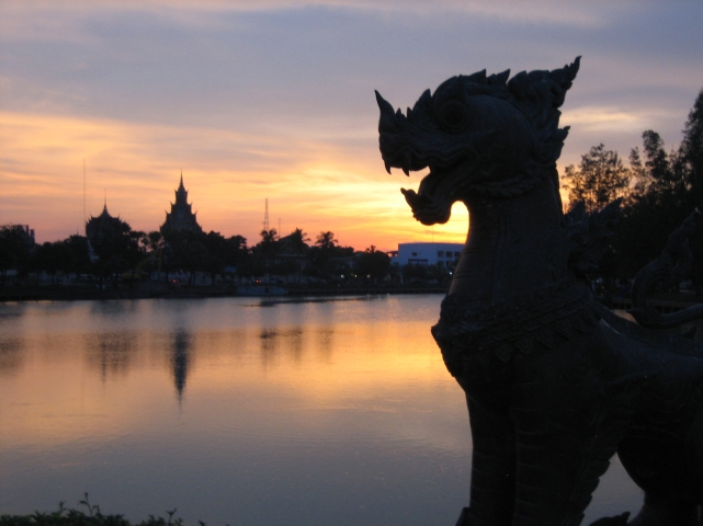 Sunset in Roi Et